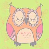 Ilustração do vetor da coruja bonito dos desenhos animados Imagens de Stock Royalty Free