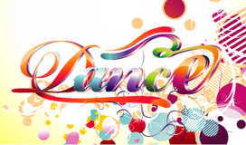 Ilustração do vetor da dança Fotografia de Stock