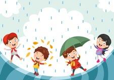 Ilustração do vetor da ilustração de ChristmasVector de Autumn Children ilustração royalty free