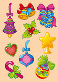 Ilustração do vetor da decoração do Natal Ilustração Stock