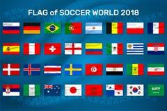 Ilustração do vetor da equipa de futebol da bandeira nacional Imagens de Stock Royalty Free