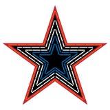 Ilustração do vetor da estrela da montanha do moinho fotos de stock royalty free