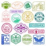 Ilustração do vetor da etiqueta do vintage da etiqueta da coleção retro superior dos crachás do grunge da marca do produto do log Fotografia de Stock