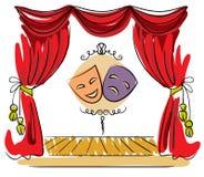Ilustração do vetor da fase do teatro Imagem de Stock