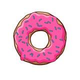 Ilustração do vetor da filhós cor-de-rosa Imagem de Stock Royalty Free