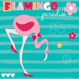 Ilustração do vetor da flor de flamingo Imagens de Stock