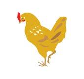 Ilustração do vetor da galinha amarela Fotos de Stock Royalty Free