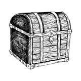 Ilustração do vetor da gravura da caixa do vintage Imagem de Stock Royalty Free