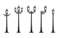 Ilustração do vetor da lâmpada de rua do jardim ilustração royalty free