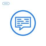 Ilustração do vetor da linha lisa ícone Conceito de projeto gráfico do diálogo Foto de Stock Royalty Free