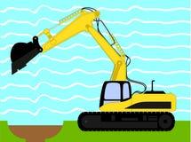 Ilustração do vetor da máquina da máquina escavadora industrial ilustração do vetor