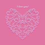 Ilustração do vetor da mandala dos corações Imagens de Stock
