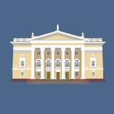 Ilustração do vetor da mansão do vintage ilustração royalty free