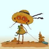 Ilustração do vetor da menina do pirata Imagem de Stock Royalty Free