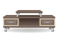 Ilustração do vetor da mobília da tabela da tevê Foto de Stock