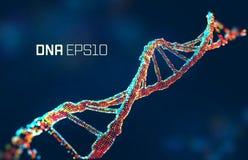 Ilustração do vetor da molécula do ADN Fundo abstrato da ciência genética Projeto do gene