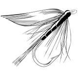 Ilustração do vetor da mosca da truta Fotos de Stock