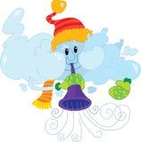 Nuvem do inverno ilustração stock