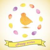 Ilustração do vetor da Páscoa com galinha e ovos Imagem de Stock