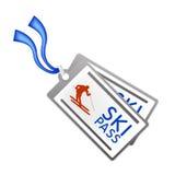 Ilustração do vetor da passagem do esqui Foto de Stock Royalty Free
