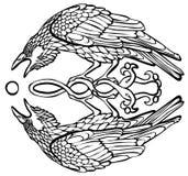 Ilustração do vetor da reflexão de travamento do sol do corvo ilustração royalty free