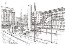 Ilustração do vetor da rua em Éstocolmo Imagem de Stock