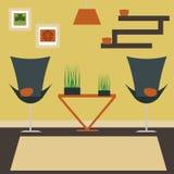 Ilustração do vetor da sala de visitas ilustração royalty free