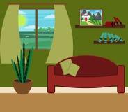 Ilustração do vetor da sala de visitas ilustração stock