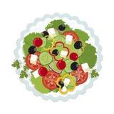 ilustração do vetor da salada grega ilustração royalty free