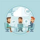 Ilustração do vetor da sessão de reflexão da equipe do negócio Imagens de Stock Royalty Free