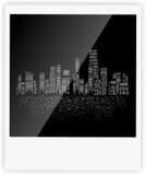 Ilustração do vetor da silhueta das cidades Foto de Stock