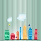 Ilustração do vetor da silhueta das cidades Imagem de Stock Royalty Free