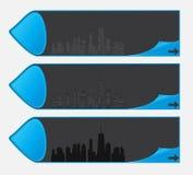 Ilustração do vetor da silhueta das cidades. EPS 10. Imagem de Stock