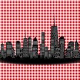 Ilustração do vetor da silhueta das cidades. EPS 10. Fotografia de Stock