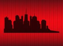Ilustração do vetor da silhueta das cidades. EPS 10. Fotos de Stock