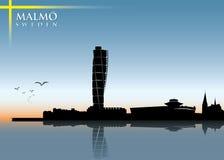 Skyline de Malmo ilustração stock