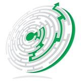 Solução do labirinto ilustração royalty free