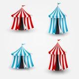 Ilustração do vetor da tenda do circus com bandeira Imagens de Stock Royalty Free