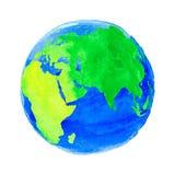 Ilustração do vetor da terra com textura da aquarela Imagem de Stock