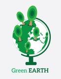 Ilustração do vetor da terra verde Fotografia de Stock Royalty Free