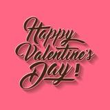 Ilustração do vetor da tipografia da rotulação da mão do dia de Valentim Fotografia de Stock Royalty Free