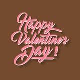 Ilustração do vetor da tipografia da rotulação da mão do dia de Valentim Fotos de Stock Royalty Free