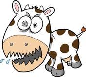 Ilustração do vetor da vaca Fotografia de Stock Royalty Free