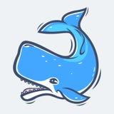Ilustração do vetor da vida marinha da baleia de esperma Imagens de Stock Royalty Free