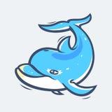 Ilustração do vetor da vida marinha do golfinho Imagens de Stock
