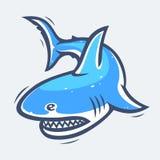Ilustração do vetor da vida marinha do tubarão Foto de Stock Royalty Free