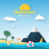 Ilustração do vetor das férias de verão Imagens de Stock