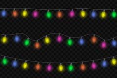 Ilustração do vetor das luzes de Natal Imagens de Stock