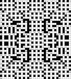 Ilustração do vetor das palavras cruzadas Imagem de Stock
