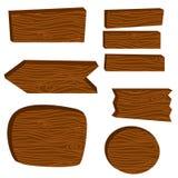 Ilustração do vetor das pranchas da placa de madeira Foto de Stock Royalty Free